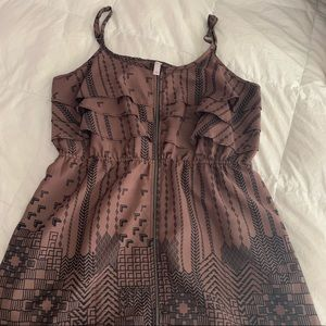 Brown and Black Abstract Dress